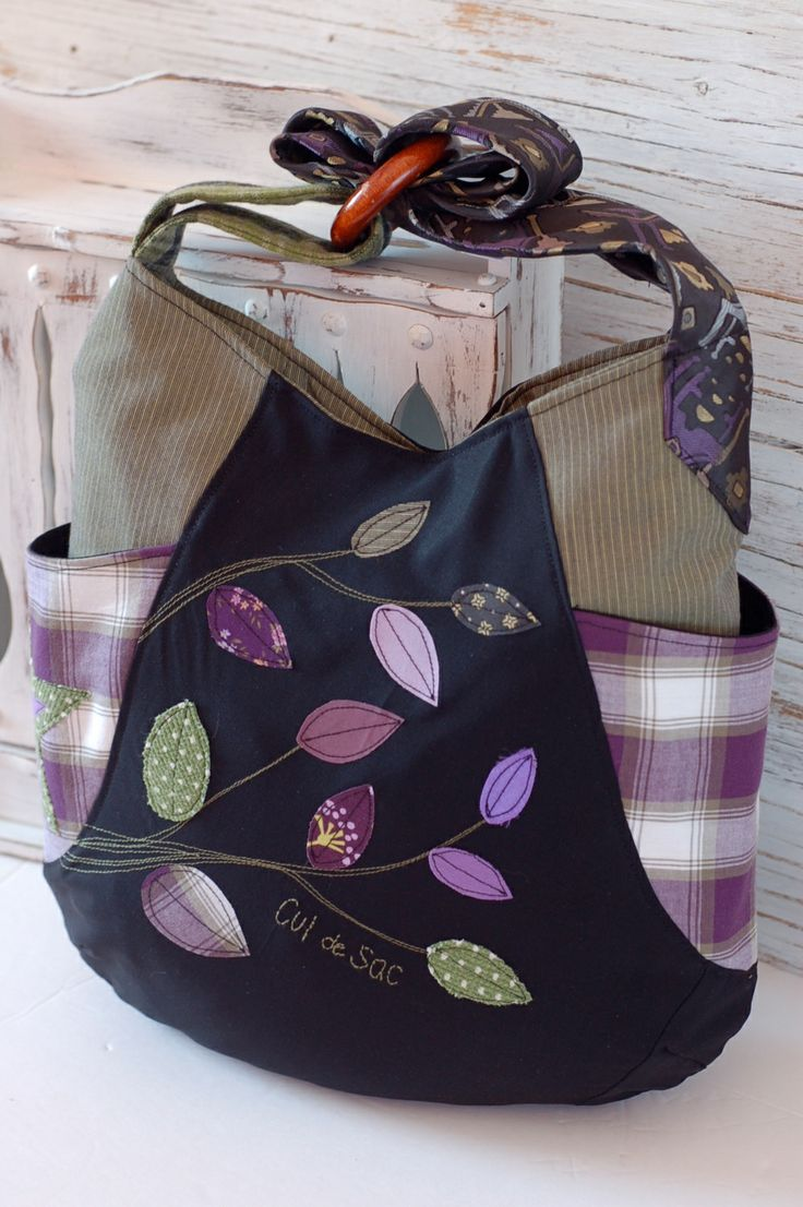 241 tote by Cul de Sac, 100% eco-friendly handmade with recycled and reclaimed materials. pattern by noodle-head