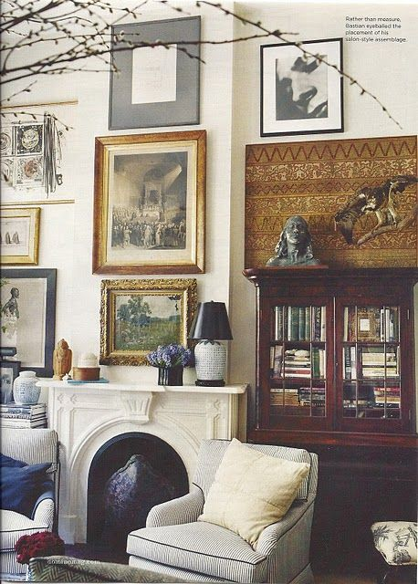 gorgeous -- old world look -- from Domino Magazine at a Perfect Gray ~~`