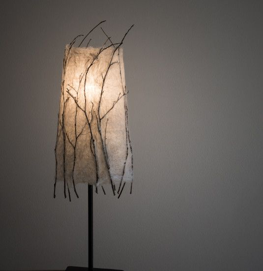 Lamp with the handmade felted lampshade. Created by Katerina Korshun