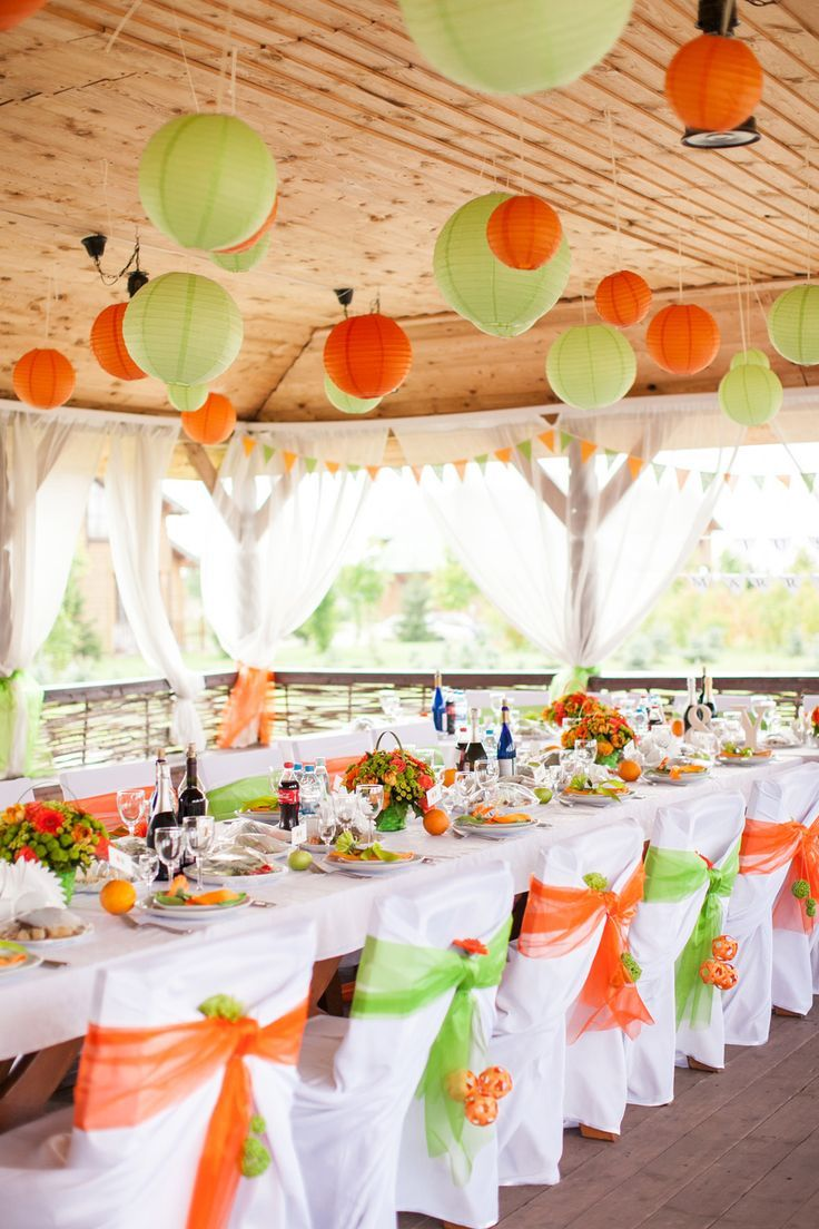 wedding decor with lanterns