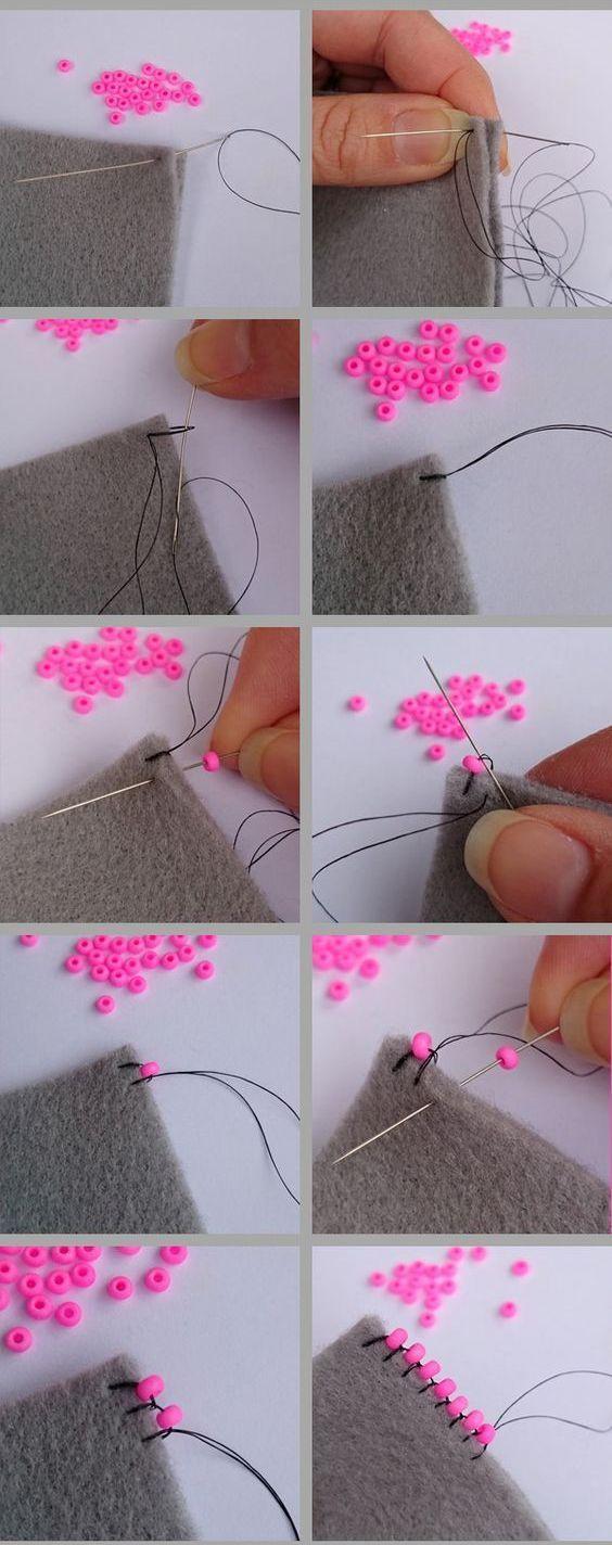 Adding Beads To A Trim // Модная одежда и дизайн интерьера своими руками