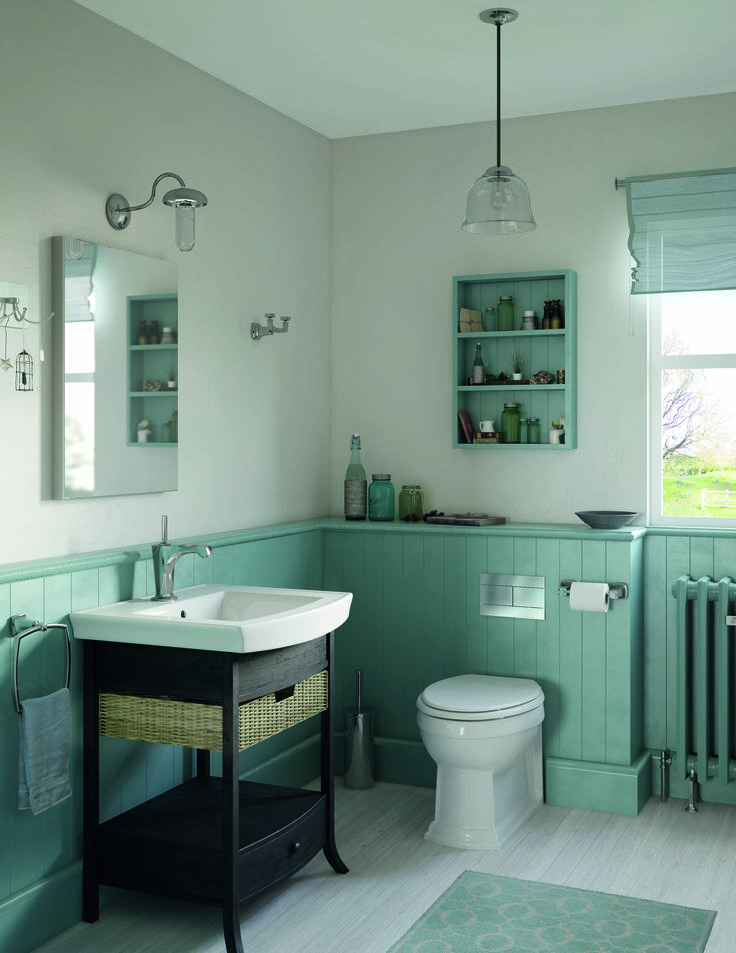 Awesome Websites To create a cool relaxing bathroom use soft colours like duck egg blue