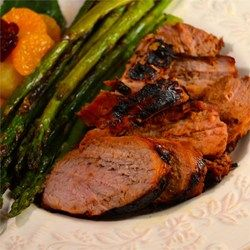 For this easy-to-follow recipe, pork tenderloin marinates in sherry, cinnamon, brown sugar and soy sauce, for sweet, moist and tender results.