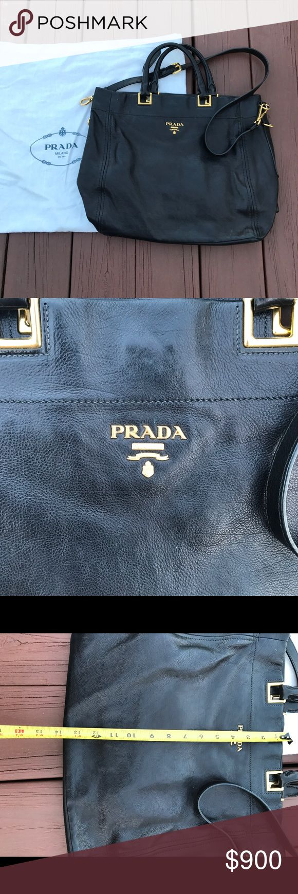 Prada handbag This is a hard one for me to let go, but I want to get an executive handbag instead. It was my very first Prada purchase, a gift for myself for graduating pharmacy school. It has a sentimental value to me, but it's time to move on! Gently used, normal light wear. No stains or rips anywhere. Such a classic. Let me know if more pictures are needed. Purchased from Neiman Marcus in 2012. I'm pretty set on the price-already over 1/2 off & in almost perfect condition! Bags Totes