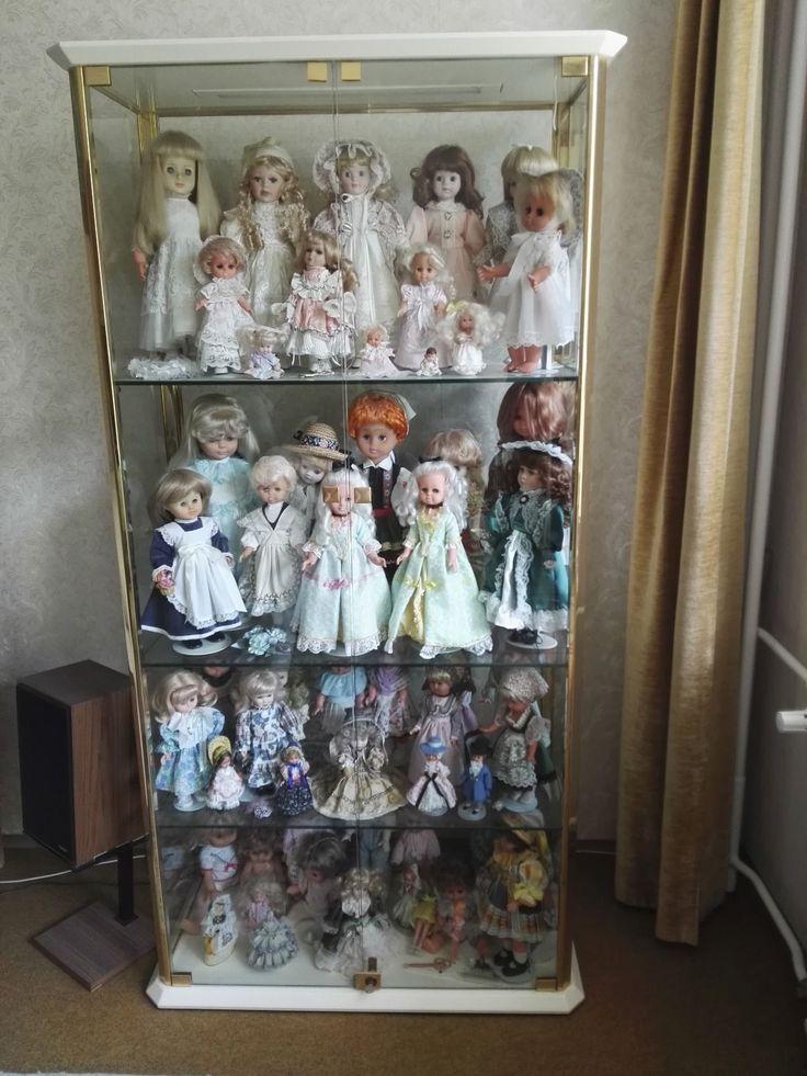Puppensammlung mit Schrank aus Nachlass für Sammler Liebhaber Porzellan Vitrine | eBay