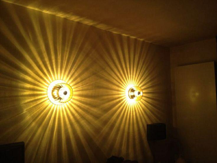 Plafonnière als wandlamp. Amberkleurig handgeblazen glas 49,95. Te bestellen op ITEMZ.nl