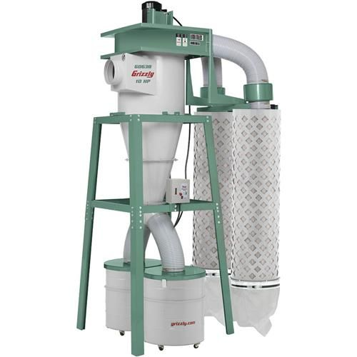 Grizzly G0638 - 10 HP 3-Phase Cyclone Dust Collector