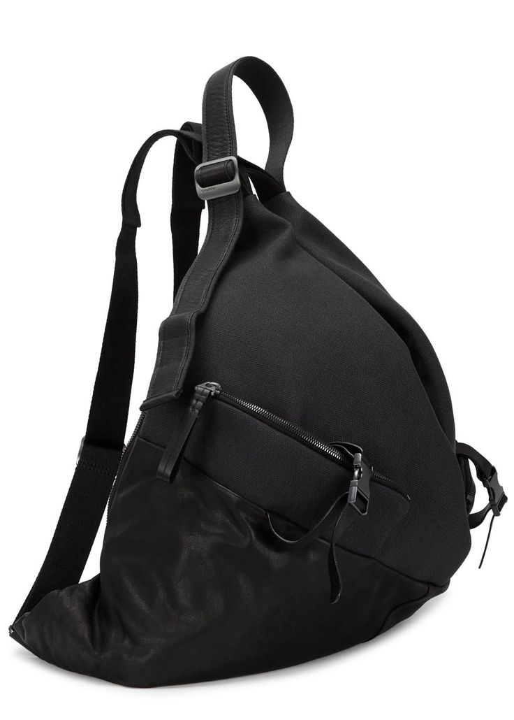 Ganges canvas and leather backpack