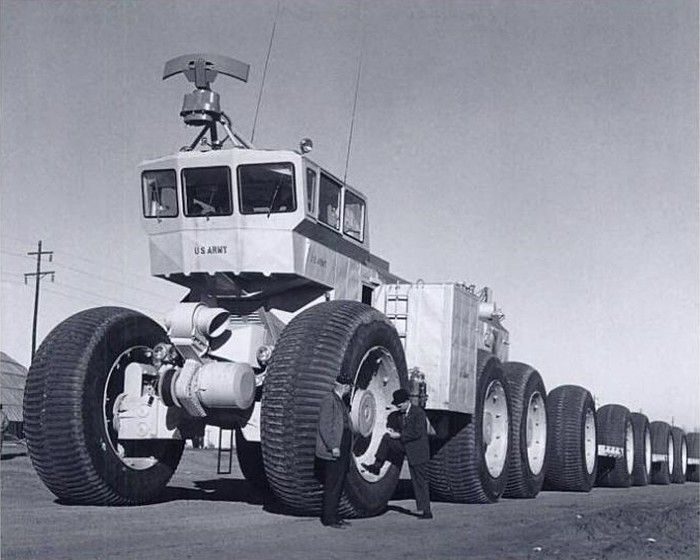 Designed to traverse arctic conditions as well as sand and desert, the six-wheeled TC-497 Overland Train MkII used four Solar gas-turbine en...