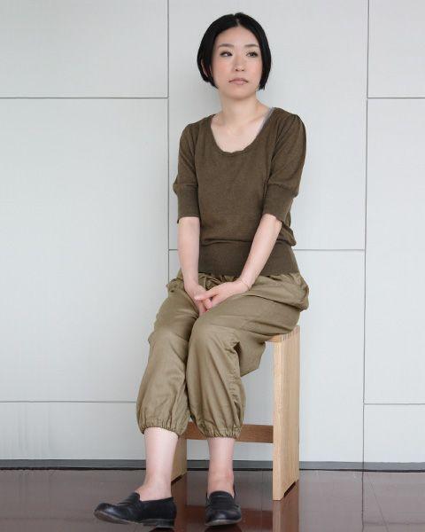 Cotton hemp loose trousers underwear/綿麻もんぺパンツ(中川政七商店)