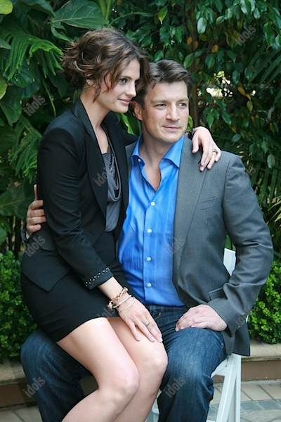 """Stana Katic and Nathan Fillion. """"Castle"""" needs to hurry the hell up."""