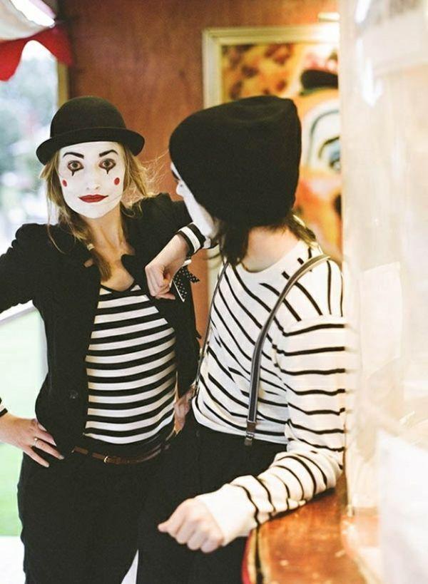 karneval kostüm selber machen mime