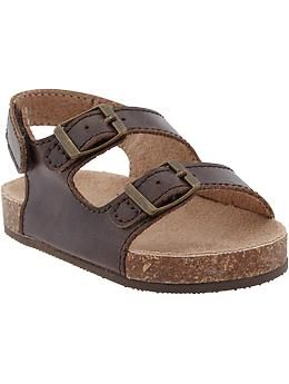 Faux Leather Double Buckle Sandals For Baby Old Navy