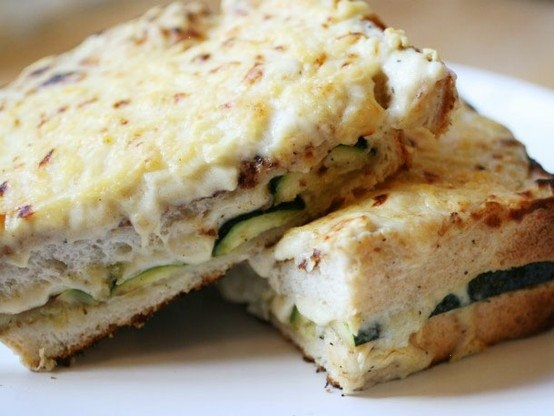 Vegetarian grilled zucchini croque mademoiselle; serious eats