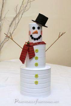 Transformer des boîtes de conserve en bel élément de décor de Noël.