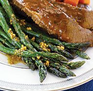 Roasted Asparagus with Garlic & Coriander Oil