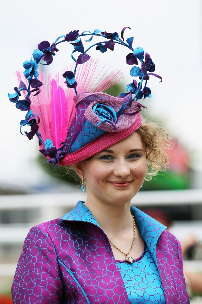 Epsom Derby Ladies' Day Brings Out The Wild Hats