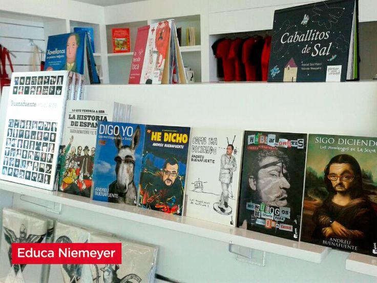 Buenafuente en la librería del Centro Niemeyer