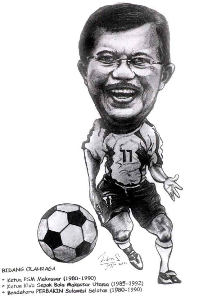 Football caricature, karikatur online, jasa karikatur lucu