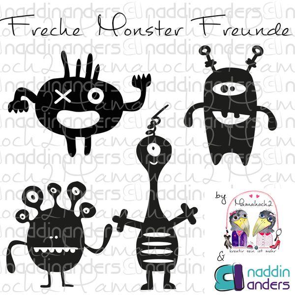 freche Monster Freunde ♥ Freebie   von Mamahoch2