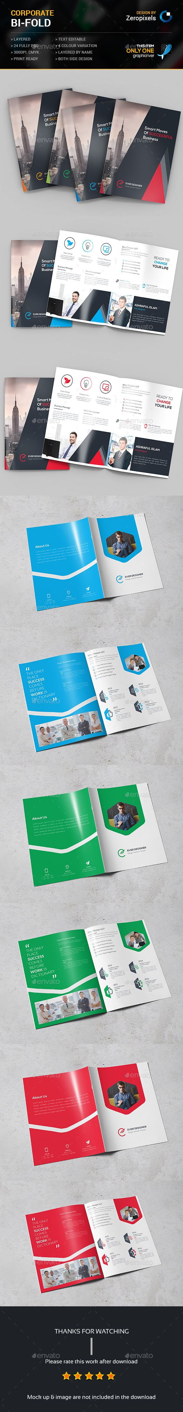 Corporate Bi-fold Brochure Templates PSD Bundle. Download here…