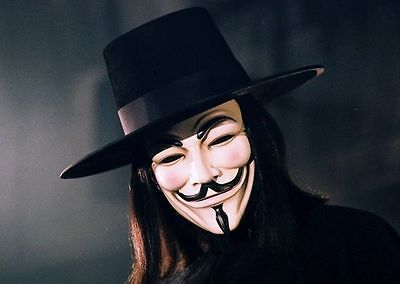 2PCS  Vendetta Mask Guy Fawkes Halloween Masquerade Party Face March Protest