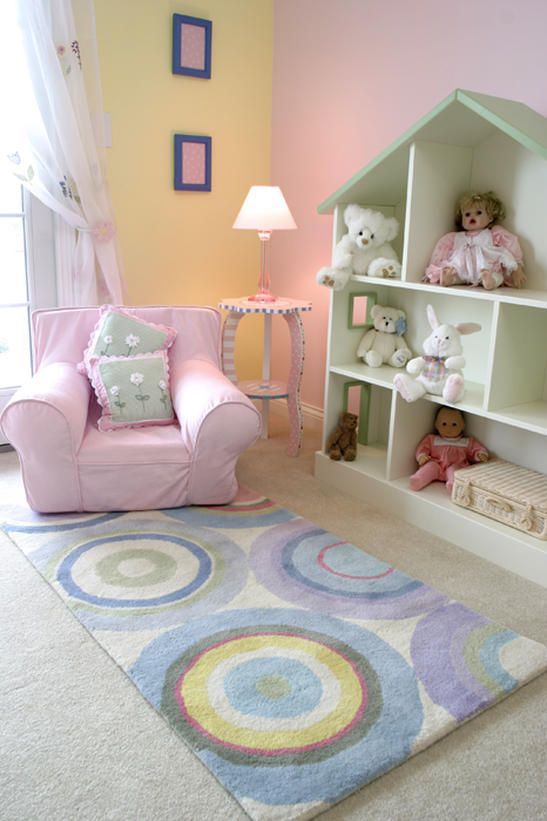 doll house used as a shelf. whimsicaly painted table  Contemporary Kids' Rooms from Vanessa DeLeon : Designers' Portfolio 3129 : Home  Garden Television