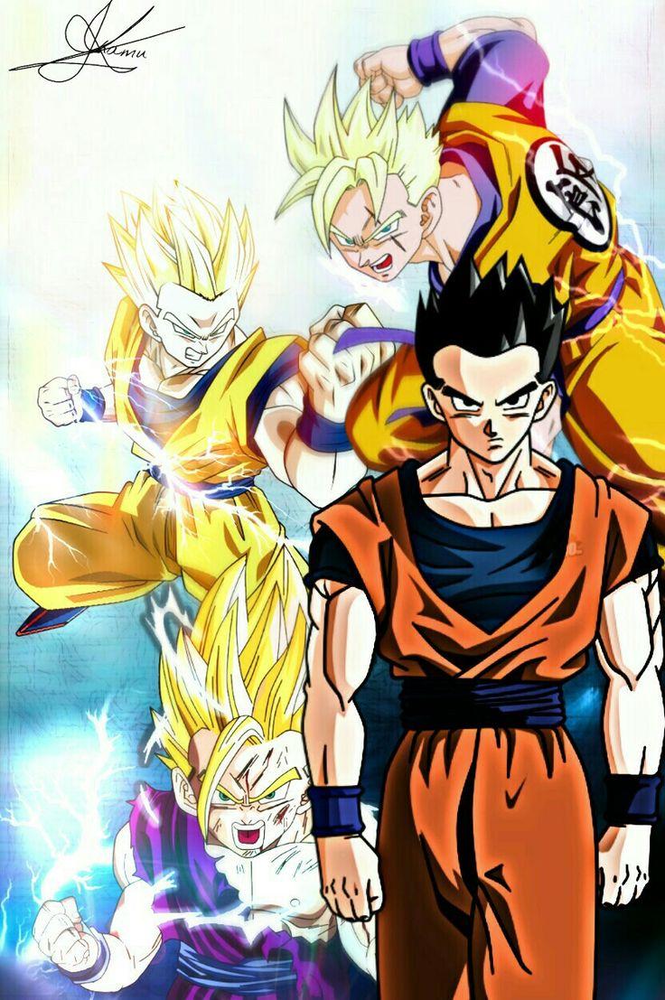 Minha montagem homenageando Son Gohan/ Personagem de Dragon Ball Z, um dos meus animes preferidos!! Wallpaper - Art