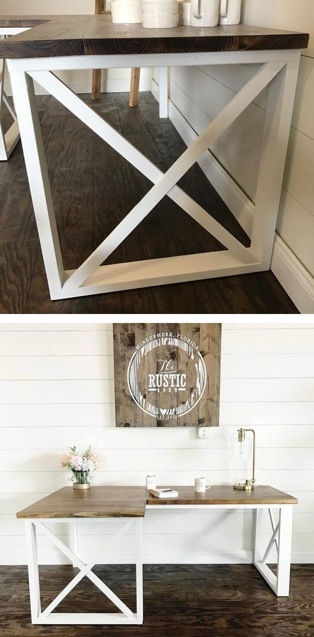 L shaped double x desk in my future house pinterest