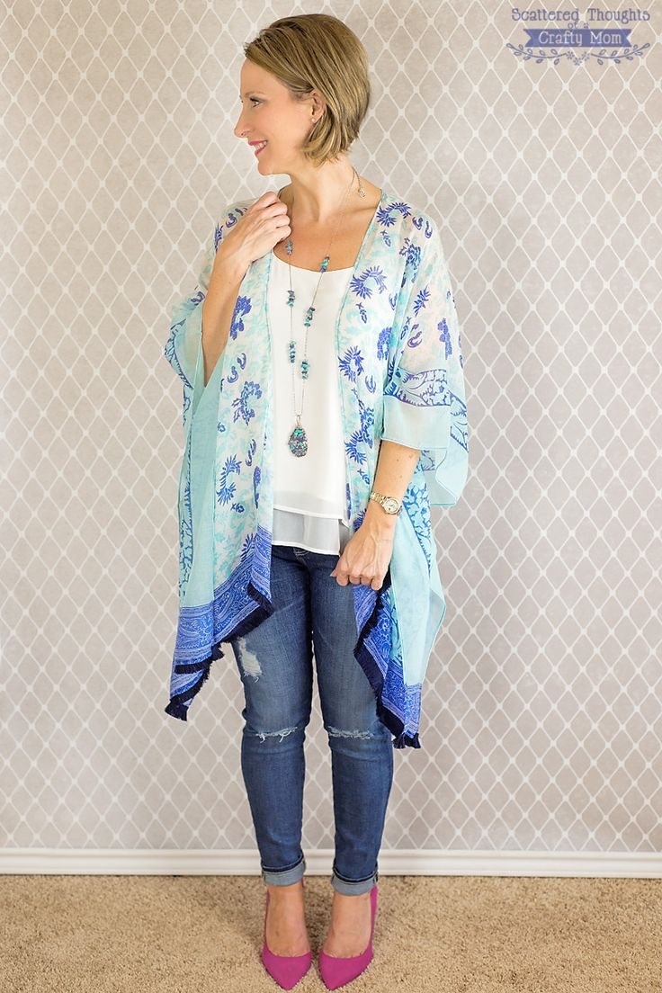 Learn how to sew a Kimono top with this easy free sewing tutorial from Scattered Thoughts of a Crafty Mom