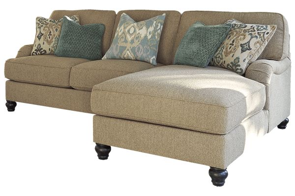 """Ashely Julesburg Sofa Couch with Chaise 38""""W x 68""""D x 41""""H (check if i can get it in white)"""