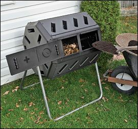 Dual-Batch Rolling Composter - Lee Valley Tools only $99!!!!: Small Yard