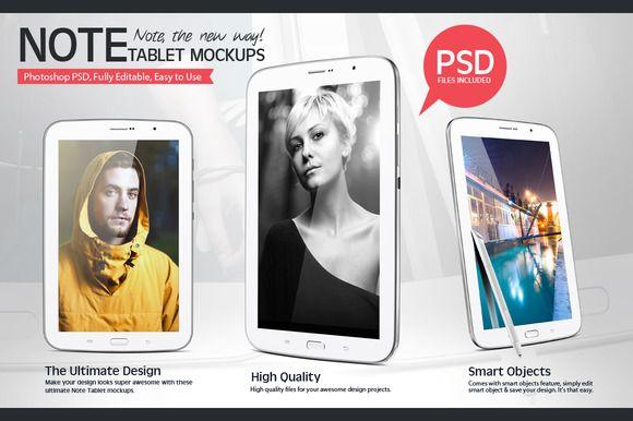 I just released Note Tablet Mockups on Creative Market.