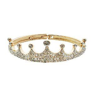 Hot Rhinestone Full-jeweled Crown Bangle Bracelets in Platinum Plated (Golden) Tungsten Love. $14.99. Hot Rhinestone Full-Jeweled Crown Bangle Bracelets in Platinum Plated. Condition: 100% Brand New. Style: Crown. Suitable occasions: wedding gifts and valentine gifts. Material: platinum-plated-base