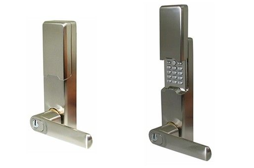 Keyless Lock - I like the idea of keyless locks, but often they look too space-age or just plain bizarre. This one is nice because it has a sliding panel to reveal the keypad and the handle itself is not too over designed.