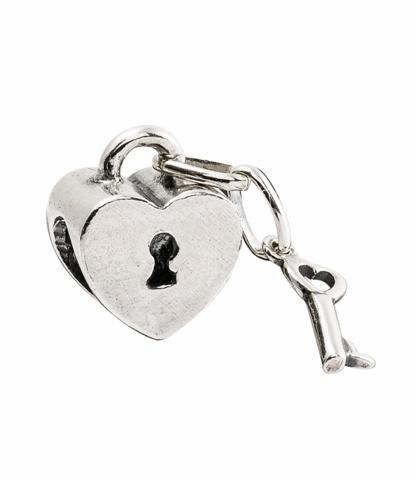 Amore & Baci 01343 silver heart padlock bead