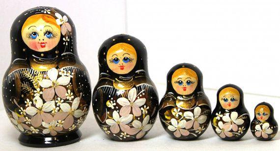 5X Russian Nesting Dolls Matryoshka Wood Stacking Nested Set Handmade Toys Kids