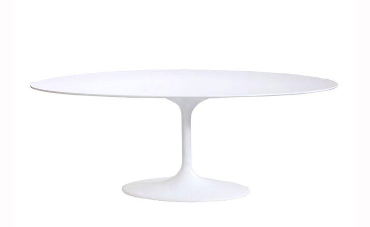 Eero Saarinen Tulip Style Dining Table 199Cm, free delivery.