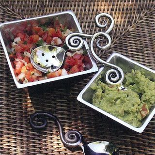 Forged Salsa Spoons (Set of 2) - eclectic - flatware - atlanta - by Iron Accents