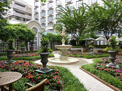 Gorgeous Courtyard At The Fairmont Hotel In Georgetown D C