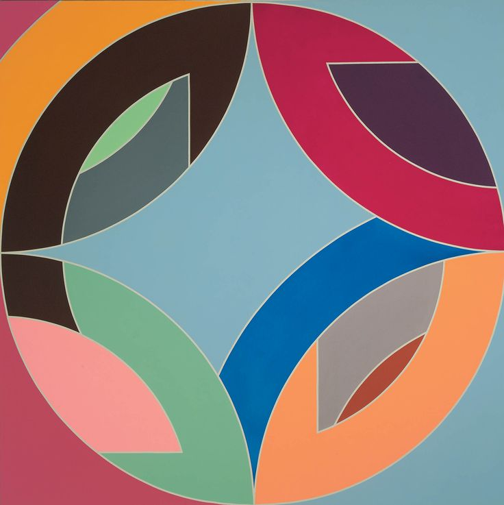 Love this. Artist: Frank Stella (1936- ); Title: Flin Flon VIII; Medium: Acrylic on canvas; Located at: The San Diego Museum of Art.