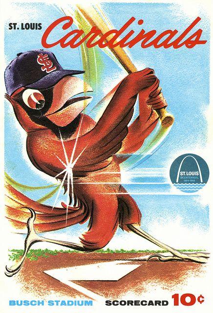 1964 st. louis cardinals scorecard, love the drawing.