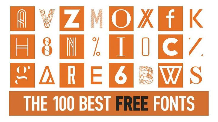 100 Free fonts for download