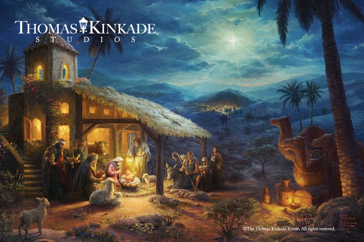 "The real meaning of Christmas is the birth of the Savior. During this blessed season, Thomas Kinkade Studios presents ""The Nativity"" – a timeless image telling the story of Christ's birth.   Visit your local Thomas Kinkade Gallery or https://thomaskinkade.com/art/the-nativity/ and make this heirloom piece part of your family's Christmas celebration."