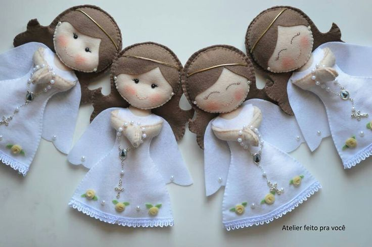 Felt angels #OperationChristmasChild #DIY