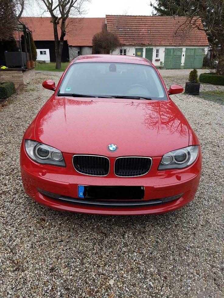 BMW 1er - Farbe Rot - EZ 2008 - TÜV 10/2019 - 8-fach bereift - sehr gepflegt