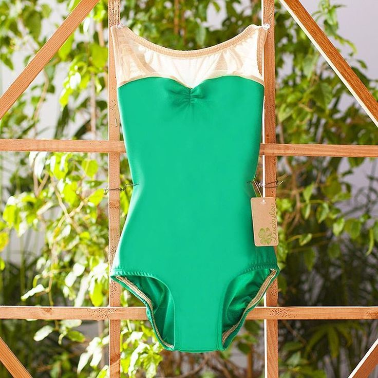 St. Patrick's Day colored leotard with a sweetheart neckline from Luckyleo!