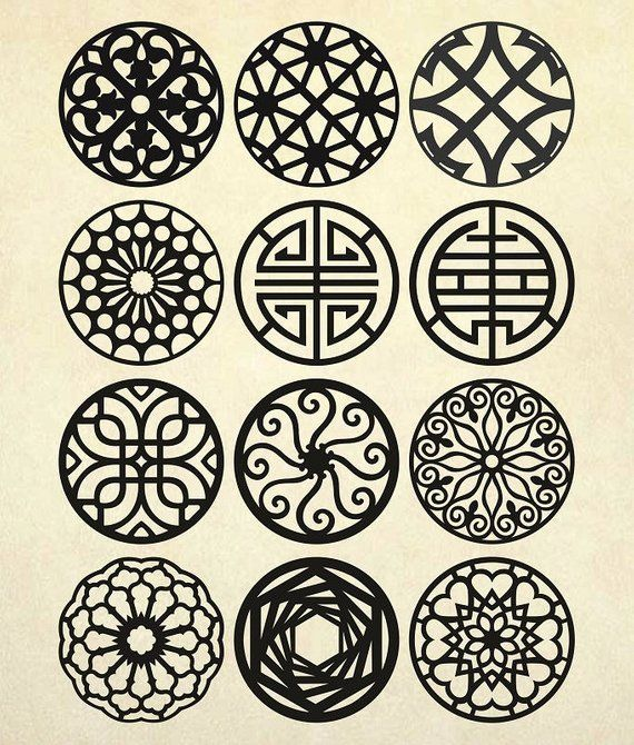 Coasters Stencil Svg Mandala Vector Patterns Vector