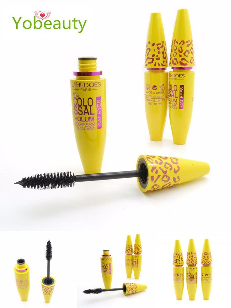 [Visit to Buy] New Women's brand  Fashion Yellow Leopard Black rimel Mascara Waterproof Eyelashes  maquiagem maquillage de marque #Advertisement