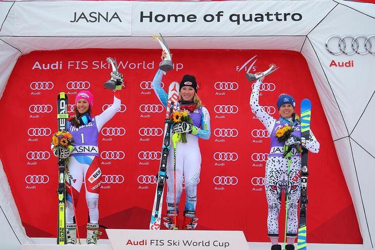 """Gratulujeme!! #jasna #worldcupjasna @skiworldcupjasna @fisalpine @vevasmile @mikaelashiffrin @wendyholdener"""